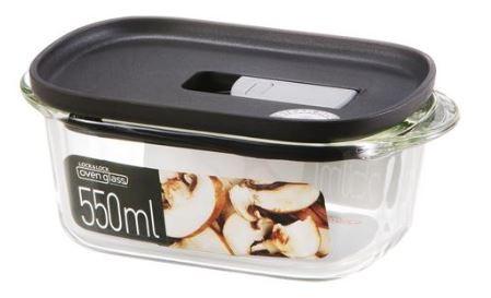 Dóza na potraviny Lock&Lock LLG940B, borosilikátové sklo, 550 ml