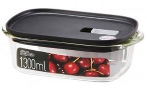 Dóza na potraviny Lock&Lock LLG942B, borosilikátové sklo, 1,3L
