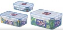 Dózy na potraviny Lock&Lock HPL825S, 3 ks, 2,3l/1l/360ml