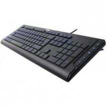 Drátová klávesnice A4tech KD-600L multimediální USB CZ, černá ROZBALENO
