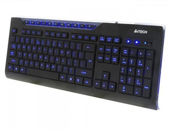 Drátová klávesnice A4tech KD-800L multimediální USB CZ, černá