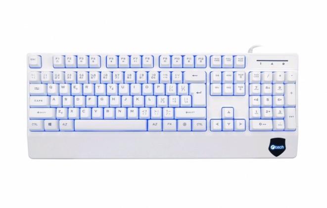 Drátová klávesnice C-TECH KB-104W, CZ/SK