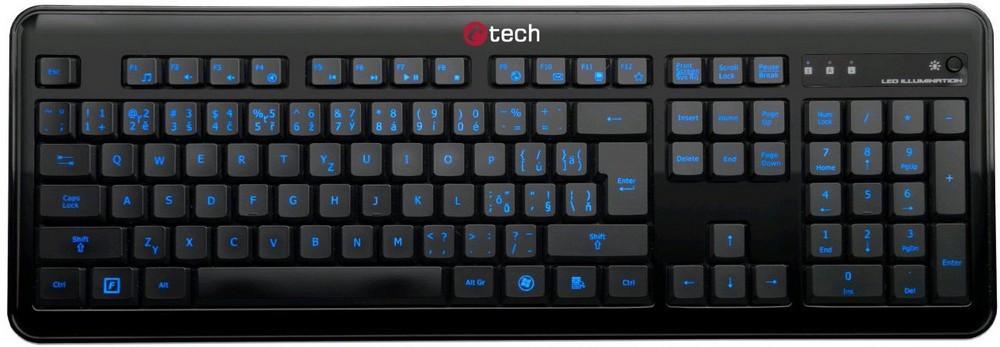 Drátová klávesnice C-Tech OBK-04