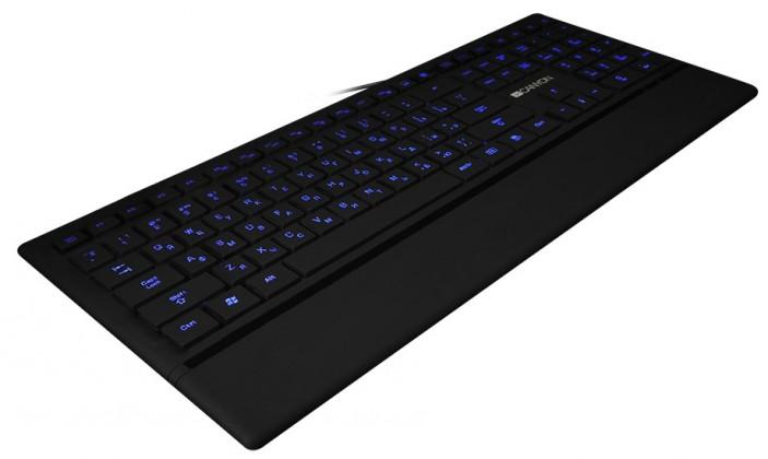 Drátová klávesnice Canyon CNS-HKB6CZ podsvícená USB, černá