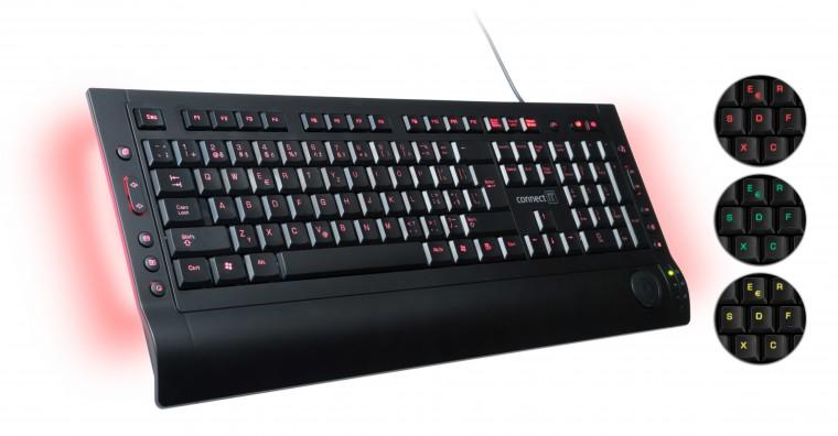 Drátová klávesnice Connect IT Premium CI-46 USB CZ, černá