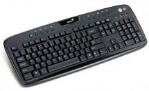 Drátová klávesnice Genius KB-220e USB CZ+SK, černá ROZBALENO