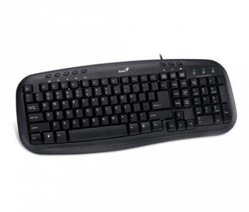 Drátová klávesnice Genius KB-M200 CZ+SK černá
