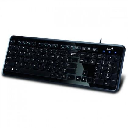 Drátová klávesnice Genius SlimStar i250 CZ+SK černá
