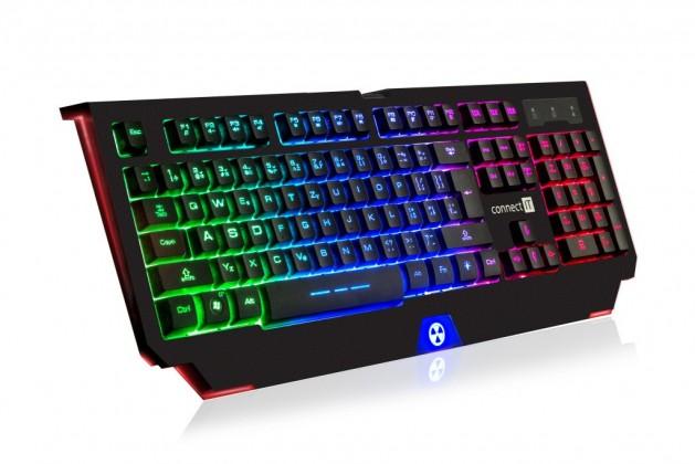 Drátová klávesnice Herní klávesnice Connect IT Battle Rainbow (CI-1129)