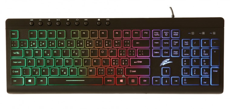 Drátová klávesnice Herní klávesnice EVOLVEO GK640, podsvícená, černá
