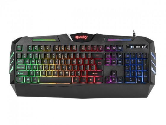 Drátová klávesnice Herní klávesnice FURY Spitfare backlight, US layout, černá