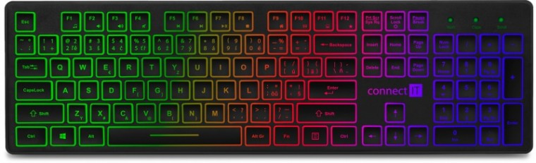 Drátová klávesnice Klávesnice Connect IT CKB-4040-CS