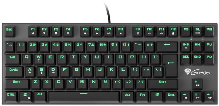 Drátová klávesnice Klávesnice Genesis Thor 300 TKL, US, herní, černá