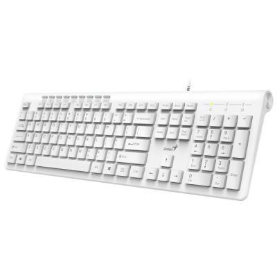 Drátová klávesnice Klávesnice Genius Slimstar 230, CZ/SK, drátová, bílá