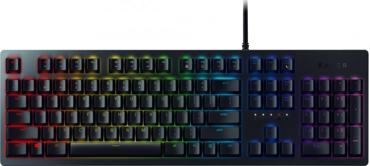 Drátová klávesnice Klávesnice Razer Huntsman, opto-mechanické spínače, US, černá