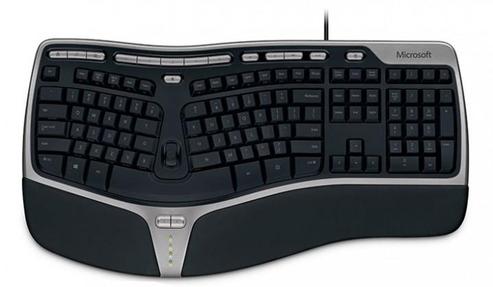 Drátová klávesnice Microsoft Natural Ergonomic Keyboard 4000 USB (B2M-00023), černá