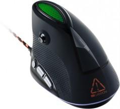 Drátová myš Canyon CND-SGM14RGB, herní, vertikální, černá POUŽITÉ