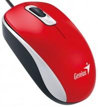 Drátová myš Genius DX-110, 1000 dpi, červená