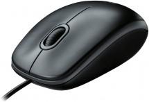 Drátová myš Logitech Corded Mouse M100, šedá
