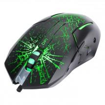 Drátová myš Marvo M207, herní, podsvícená, 6 tlačítek, černá