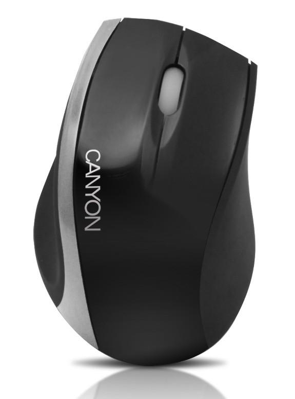 Drátové myši CANYON CNR-MSO01NS, černá-stříbrná