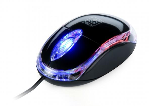 Drátové myši CONNECT IT optická myš podsvícená USB, černá