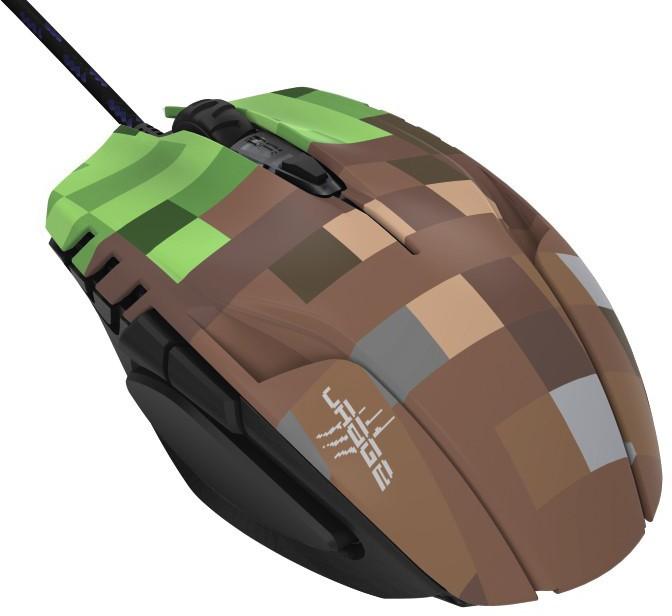 Drátové myši Drátová myš Hama uRage Morph - Bloxx, 6 tlačítek, zelená/hnědá