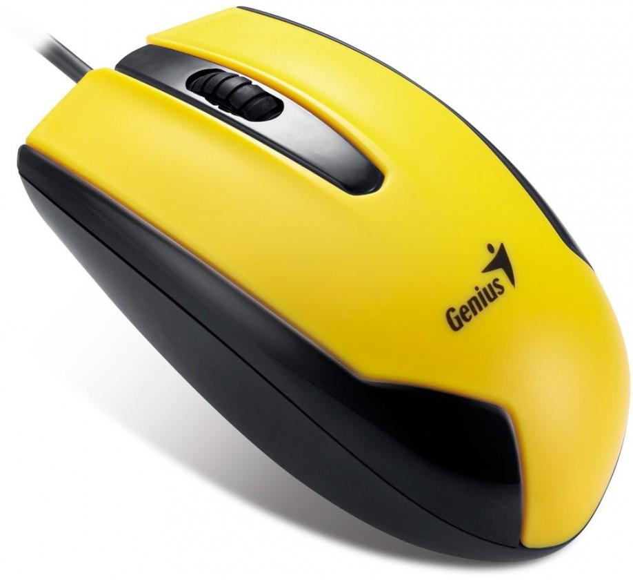 Drátové myši Genius DX-100 žlutá