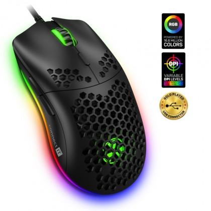 Drátové myši Herní myš Connect IT Battle Air CMO5510BK, drátová, černá