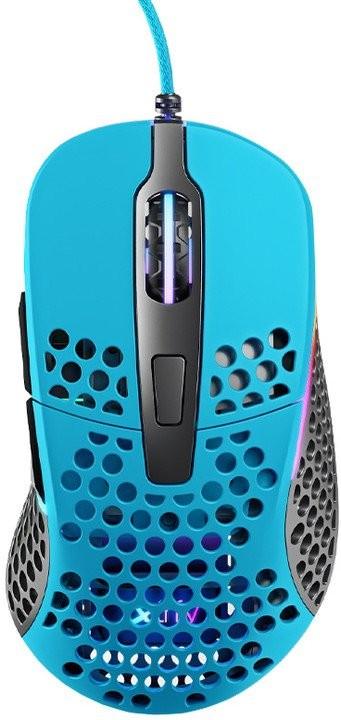 Drátové myši Herní myš Xtrfy M4 RGB, 16 000 dpi, modrá