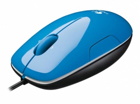 Drátové myši Logitech LS1, modrá