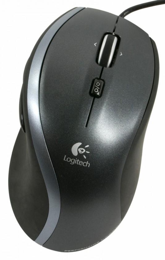 Drátové myši Logitech M500, černá