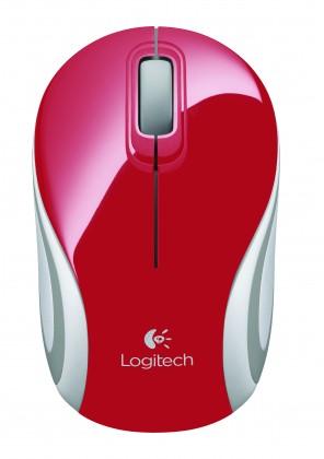 Drátové myši Logitech Wireless Mini Mouse M187, červená