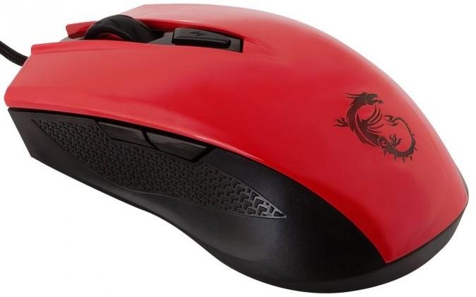 Drátové myši MSI Clutch GM40, červená S12-0401360-D22