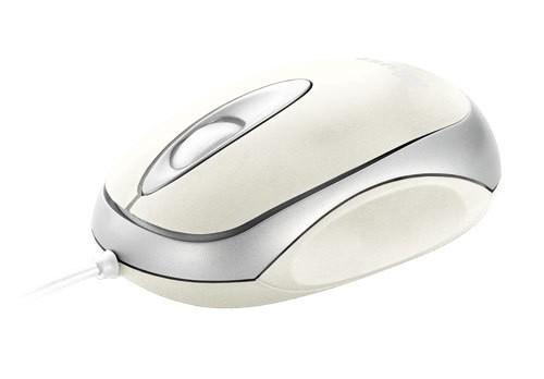 Drátové myši Trust Centa Mini, bílá