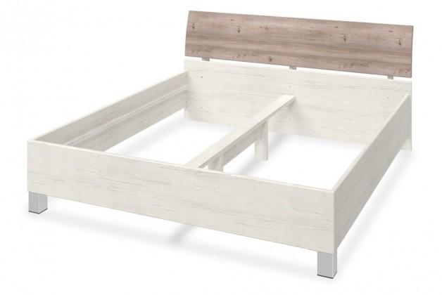 Dřevěná Arianna - Ložnicová postel, 406999 (dub nelson)