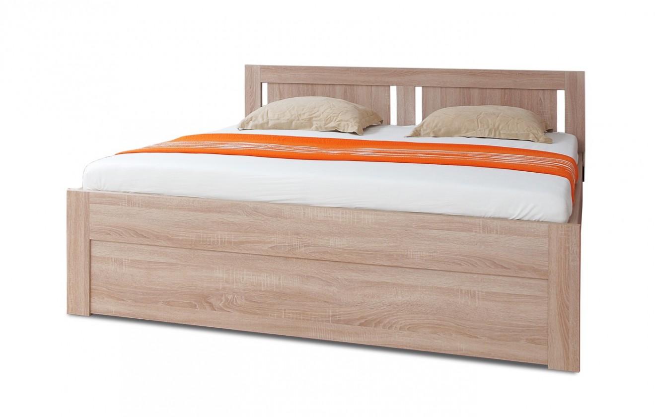 Dřevěná Mia - postel 200x180 + rošt a úložný prostor