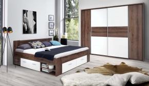 Dřevěná postel Cool 180x200 cm, dub, bílá