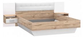 Dřevěná postel Corsica 160x200 cm, dub, bílá