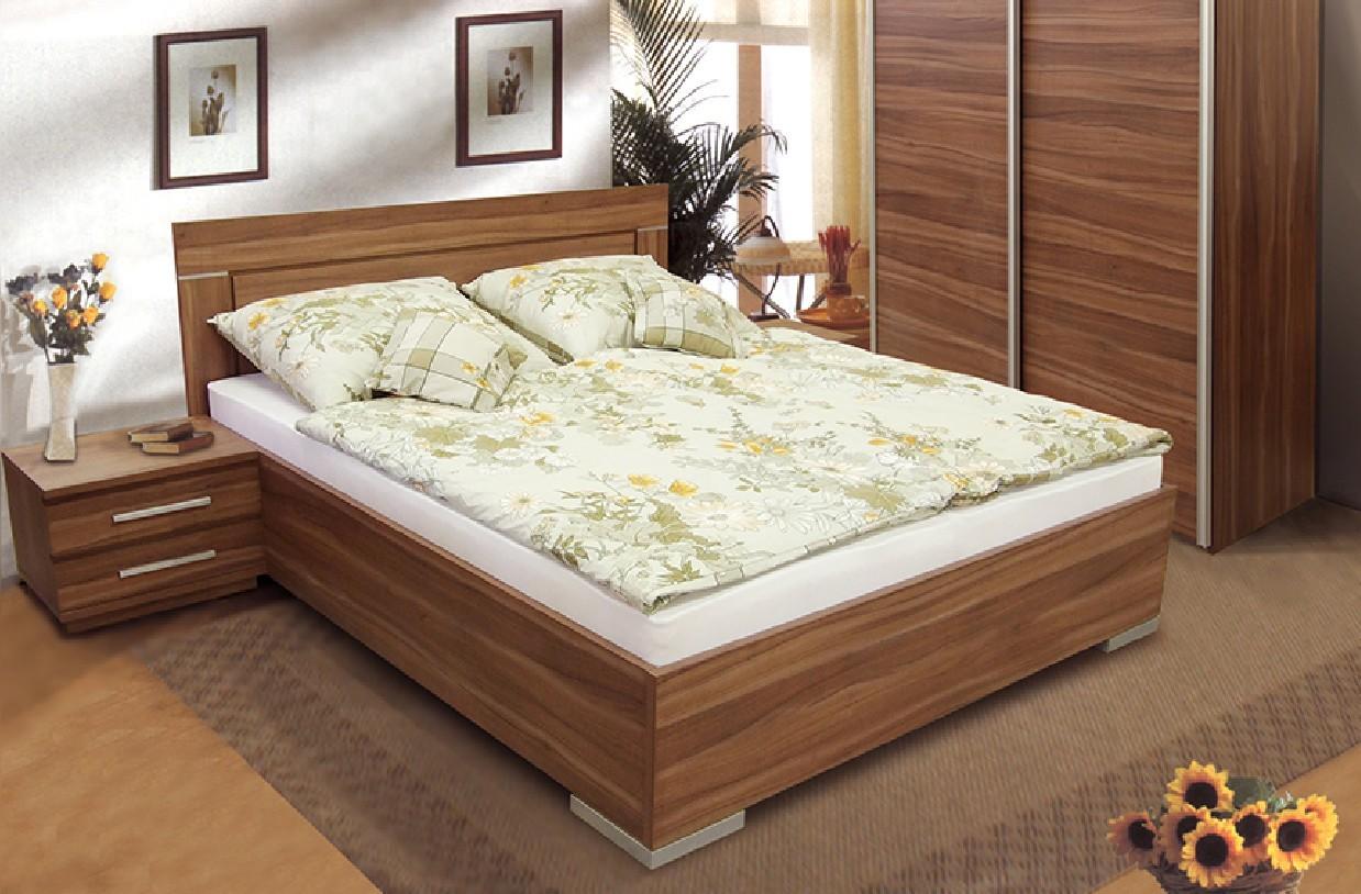 Dřevěná Postel Dafne 2 - 180x200 cm (švestka)