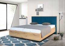 Dřevěná postel Leticia 180x200, dub, vč. matrace, roštu a ÚP