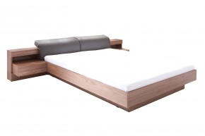 Dřevěná postel Renato 180x200 cm, ořech, grafit