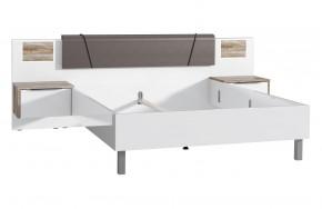 Dřevěná postel Selly 160x200 cm, sosna, bílá