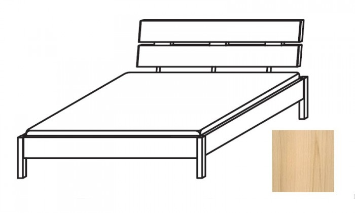 Dřevěná Quadra - postel 140x200 cm, bez roštu, bez matrace