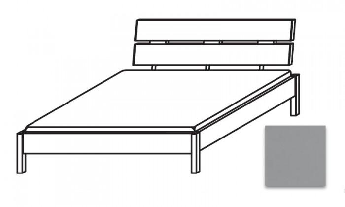Dřevěná Quadra - postel 140x210 cm, bez roštu, bez matrace