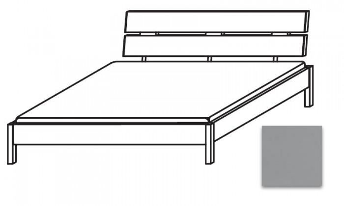 Dřevěná Quadra - postel 180x200 cm, bez roštu, bez matrace