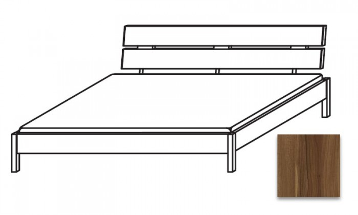 Dřevěná Quadra - postel 180x210 cm, bez roštu, bez matrace