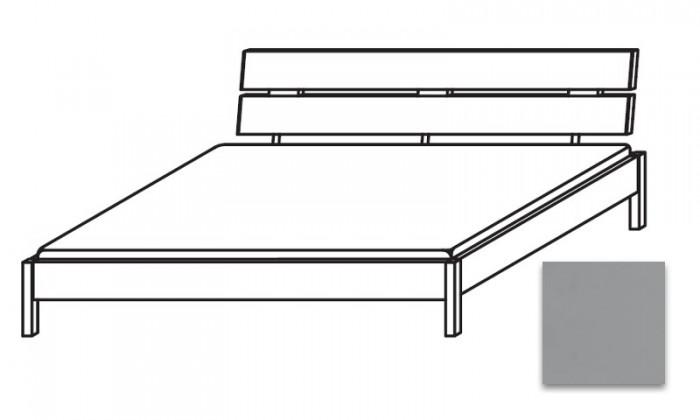 Dřevěná Quadra - postel 180x220 cm, bez roštu, bez matrace