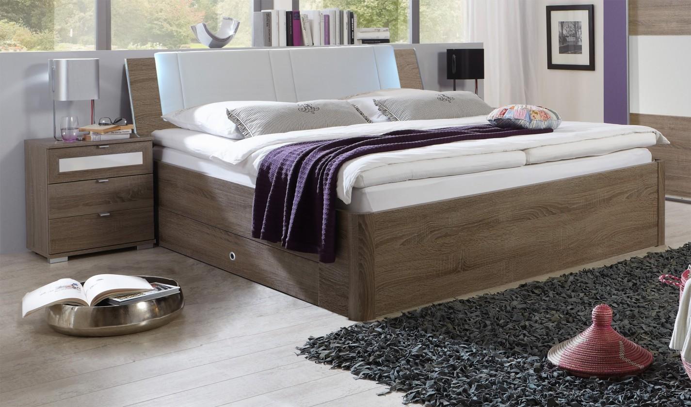 Dřevěná Relax-postel s úložným prostorem (montana)