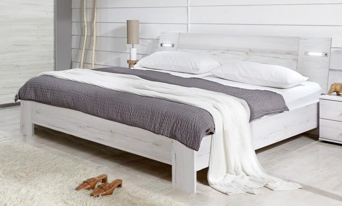 Dřevěná Vicenza - Postel 140x200 cm (dub bílý)